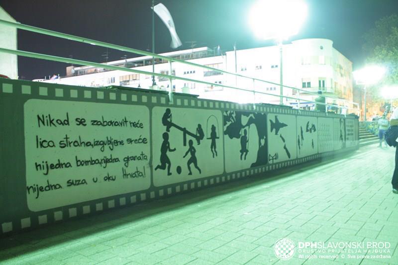 Mural za branitelje i poginulu djecu u Slavonskom Brodu